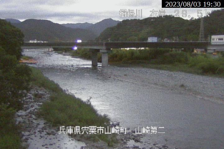 山崎第二の現在の河川状況