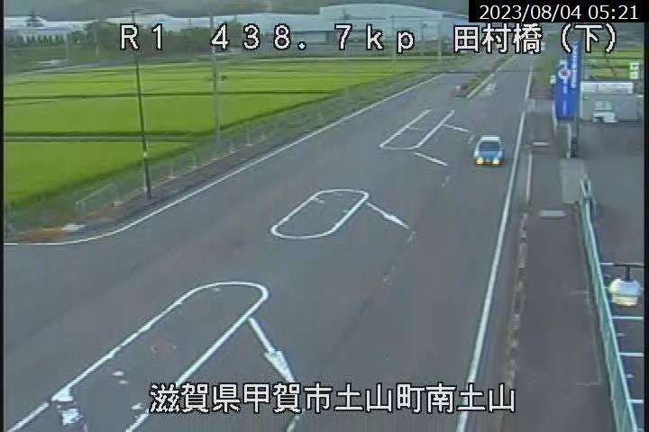 国道1号 田村橋[甲賀市土山町南土山]ライブカメラ