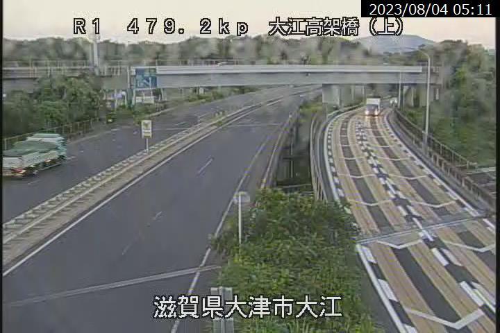 国道1号 大江橋高架橋[大津市大江]ライブカメラ